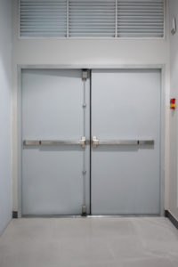 School Building door with heavy duty barricade lock