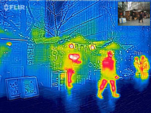 thermal camera image of a public marketplace increases workplace safety