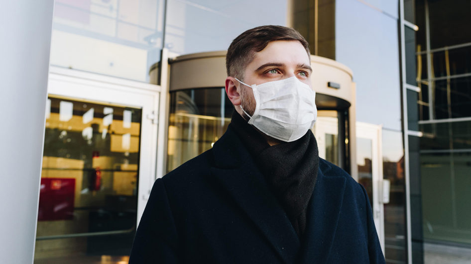 Man wearing face mask