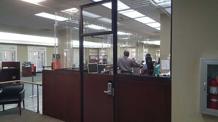 bank security systems usually demand custom doors