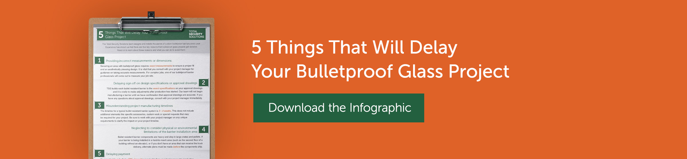 5 Ways to Delay Your Bulletproof Project