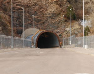 Tunnel leading into Cheyenne Mountain