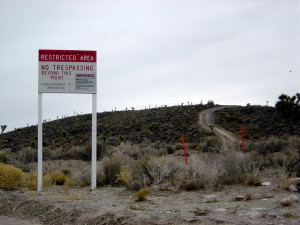 warning signs outside of Area 51 in Nevada