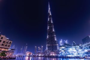 The world's tallest building is the Burj Khalifa